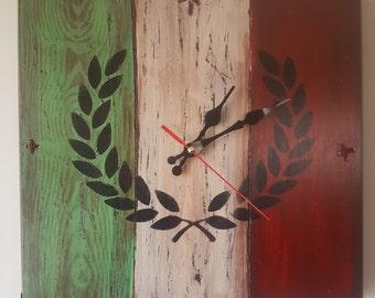 Hand made clock-wood clock-wooden wall clock-original wall clock-unique wall clock-singular wall clock-artistical wall clock-wall clock