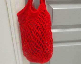 Supply or vegetables in VINTAGE crochet filet