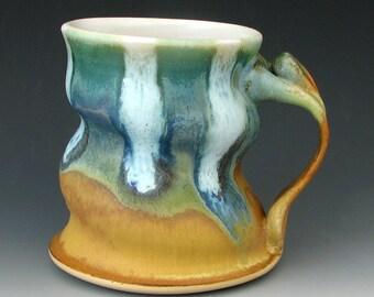 Steingut Becher #12 - Keramik Kaffeebecher - große Becher - große Becher - Keramik-Becher - handgemachte Becher - Keramik Tasse - Becher - Studiokeramik