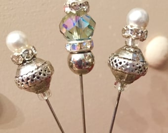 2 inch Victorian Style Decorative Hat Pins Stick Pins