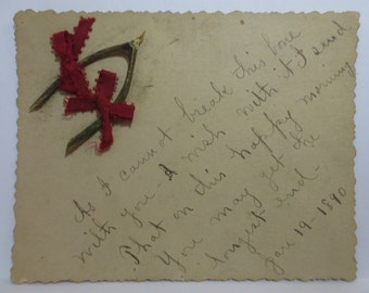 Antique Wishbone Card 1890