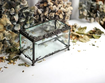 Large rectangular casket, Glass Display Box, Clear Glass Jewelry Box, Glass Box, Box Glass, Jewelry Box, Display Box,