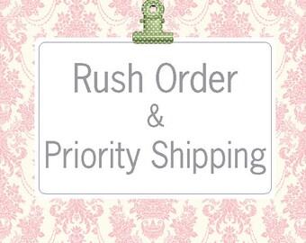 Rush Order & Priority Shipping Upgrade