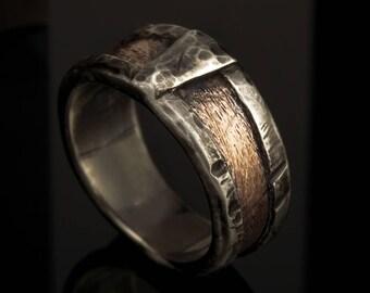Men's Band, Men's ring, Unique Man ring, Men's Wedding Band, Man rustic ring, Men Silver Ring, Engagement ring, Wedding Ring,  RS-1162