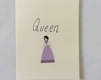 Queen - Compliment Card - Encouragement Card