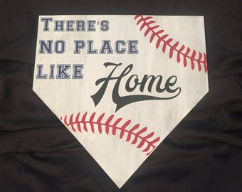 There's No Place Like Home - Home Plate Sign (Baseball or Softball)