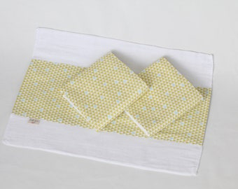 Mod Triangle Organic Burp Cloth Set (3)