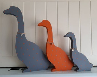 Set of Ducks Geese Goose Free standing Figures Kitchen Dining Room House