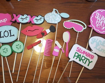 Spa/Slumber Party Photo Booth Props