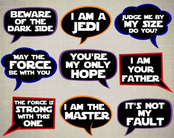 Star Wars Props // Photo Booth Props // Star Wars Photo Booth // Star Wars Birthday // Star Wars Party Props // Photo Booth // Download