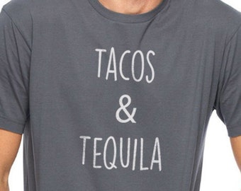 Dad shirt Tacos & Tequila Men's T Shirt Fathers Day Husband Gift Dad Gift Daddy Shirt Gift for Dad Tequila Shirt Husband Shirt