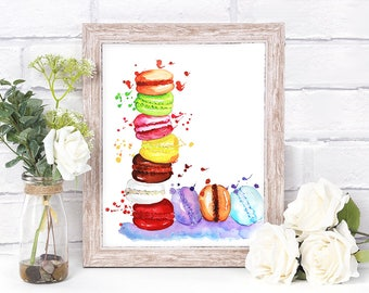 Nursery Decor, Macarons Printable, Wall Art, Printable, Thanksgiving Gift, Instant Download, Digital File
