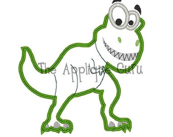 Dinosaur Applique  --  Machine Embroidery Design