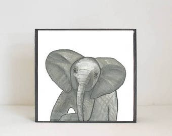 zoo safari jungle nursery decor, elephant wall art- nursery decor- kid room decor- nursery art-moroccan nursery-redtilestudio, safari animal