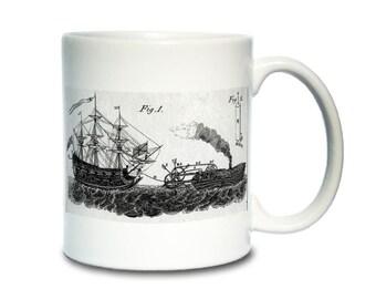 Coffee Mug; 1736 Steamboat Patent  English Patent