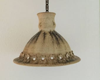 Beautiful Danish Midcentury vintage ceramic pendantl light from the 1970' in a beautiful rustic and rough style- beautiful decor- warm color