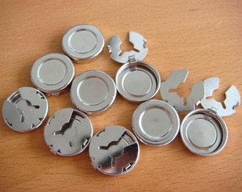 Silberfarbene Taste Abdeckung Clip auf Erkenntnisse 18mm