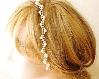 Bridal Headband, Wedding Headband,  Wedding Trends Hair Halo, Rhinestone and Pearl Hairband, Bridal Hair Accessory, Wedding hair Accessory