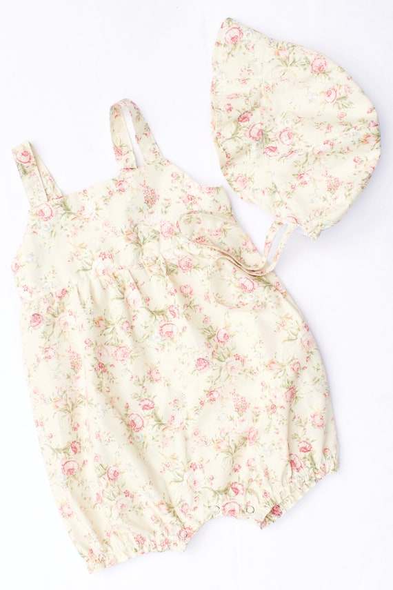 Summer Romper, soft floral cotton