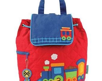 Stephen Joseph Train Backpack, Children's Backpack, Monogram, Personalized Train Backpack, Preschool Backpack, Toddler Backpack
