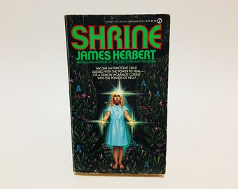 Vintage Horror Book Shrine by James Herbert 1984 First Edition Paperback