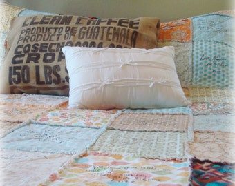 Guestbook Quilt // WEDDING QUILT // Guest Book // Rag QuiLT // YOU Choose Colors, Fabrics, Style // Custom, Handmade // Complete Quilt
