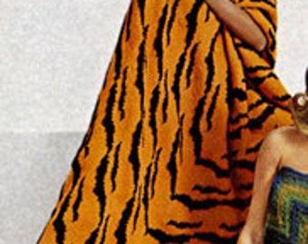 Tiger Print Afghan Knitting Pattern