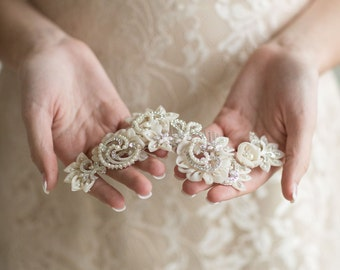 Wedding Hair Comb, Champagne Bridal Comb, Wedding Hair Accessory, Wedding Headpiece