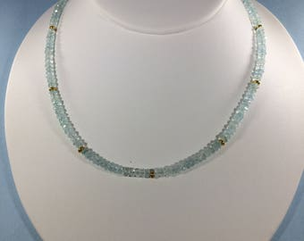 Bestseller SALE 30% , Aquamarine Necklace, Aquamarine Gemstone Necklace  , gemstone Necklace , Birthstone Necklace ,   Birthstone Necklace