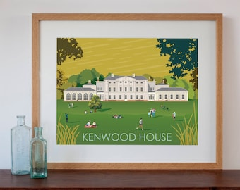 Kenwood House London Retro Style Art Print