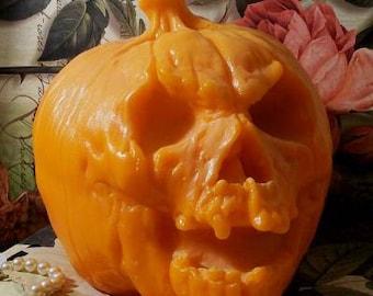 Demon Pumpkin Candle HUGE