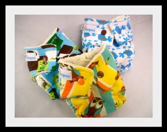 Newborn Cloth Diaper - Bamboo Velour