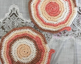 Crocheted Potholders ~ set of two