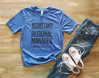 Assistant to the regional manager shirt, the office tv show shirt, dwight shirt, regional manager, assistant shirt, dunder mifflin shirt