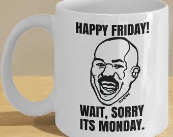 Happy Friday Harvey Meme Mug - Funny TGIF, Friday, Monday Memes Coffee Cup