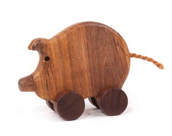 Wooden eco friendly toy - SMALL PIGGY