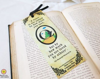 Tin man The wonderful wizard of Oz quote Bookmark-Oz bookmark-Tin man quote bookmark-gift for reader-Bookmark-Design by Natura Picta BKMK004