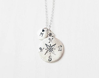 Personalised Compass Necklace | Wanderlust | BFF | Best Friends | BFF Necklace | Jewelry | Jewellery | Sisters | Besties | SALE