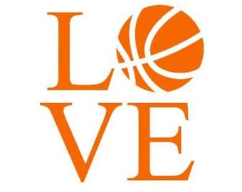 Love Basketball Decal
