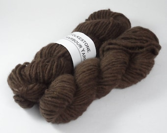 Chocolate Brown Semi Solid Chunky Pure Wool 50g