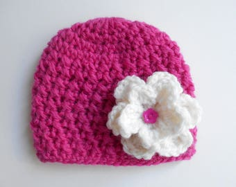 baby girl 100% alpaca Hat handmade crochet
