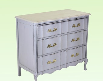 Mid Century Provincial 3-Drawers Commodes - Mid Century Dresser - Grey Dresser - Grey Chest of Drawers