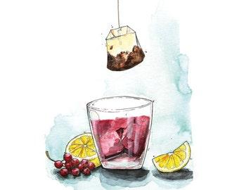 Currant Ice Tea - Karte - Getränk - Sommer - von Nimmermehr