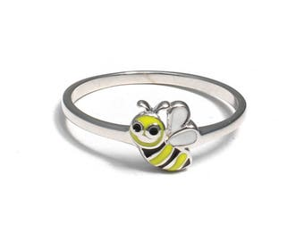 925 sterling silver Children's ring with sweet bee