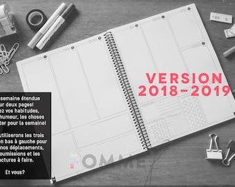 "AGENDA 2018 2019 ""SCHOOL"". Bullet Journal style. Agenda. Organizer. Bullet Journal. School diary"