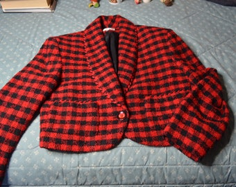 Red and Black Jacket by Ann Taylor Studio in Size 4