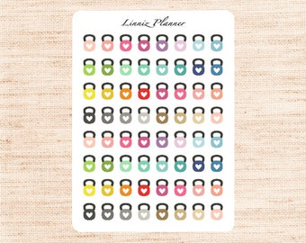 Mini Kettlebell (matte planner stickers, perfect for planners)