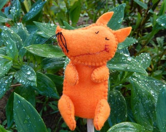 Orange Fox finger puppet