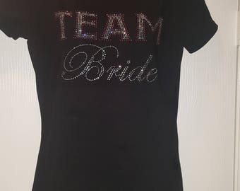 Team Bride Rhinestine T-shirt