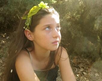 Pixie headband, Flower girl headband, leafs headband, fairy flower girl, fairy headband, fairy alice band, woodland headband